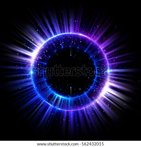 Abstract neon background. luminous swirling. Glowing spiral cover.  Black elegant. Halo around. Power isolated. Sparks particle. Space tunnel. Glossy jellyfish. LED color ellipse. Glint glitter