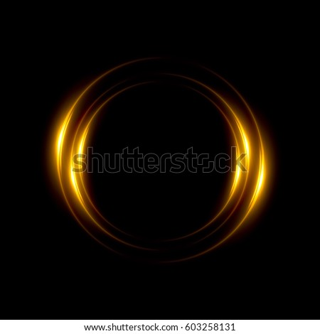 Abstract neon background. luminous swirling. Glowing spiral cover. Black elegant. Halo around. Power isolated. Sparks particle. Space tunnel. Glossy jellyfish. LED color ellipse. Glint glitter stock photo