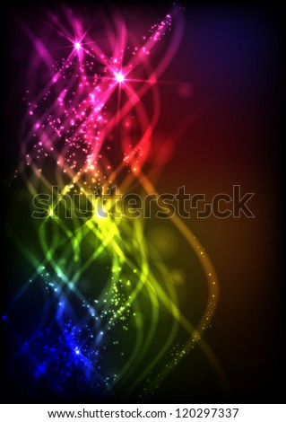 Abstract neon waves