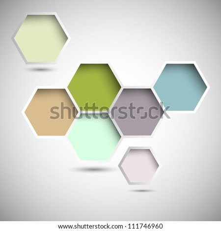 Abstract new design hexagons background. Raster version