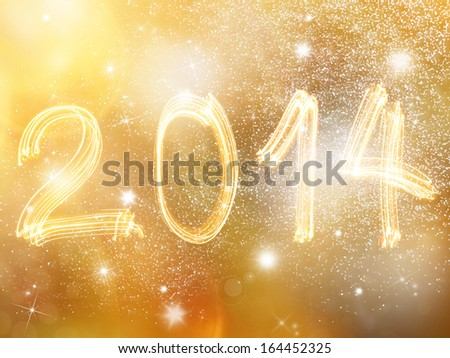 Abstract New year blurred background