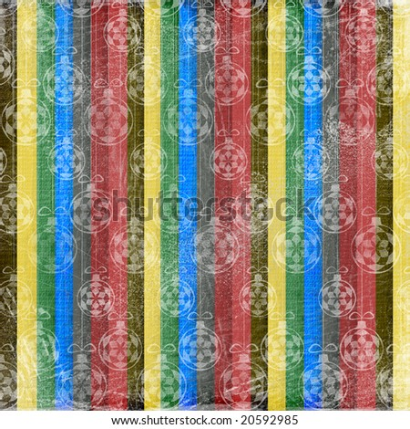 Abstract New Year's background with spheres - stock photo