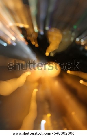 Abstract night acceleration speed motion. - Shutterstock ID 640802806