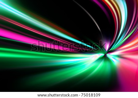 abstract night acceleration speed motion on road