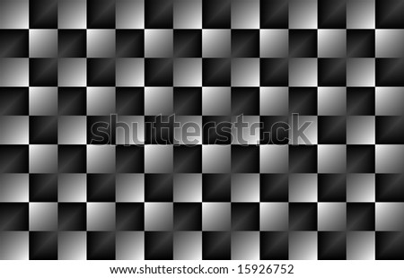 abstract of a checkered glossy background