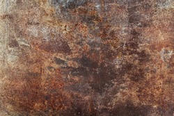 Abstract of a grunge rusted metal background with rust and oxidized texture.