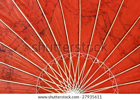 abstract of asian paper umbrella