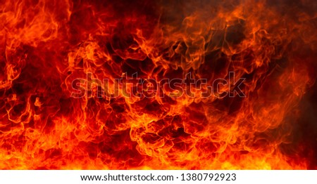 Abstract of blaze fire flame texture for background. #1380792923