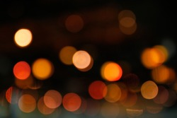 Abstract of bokeh defocused lights, holiday background