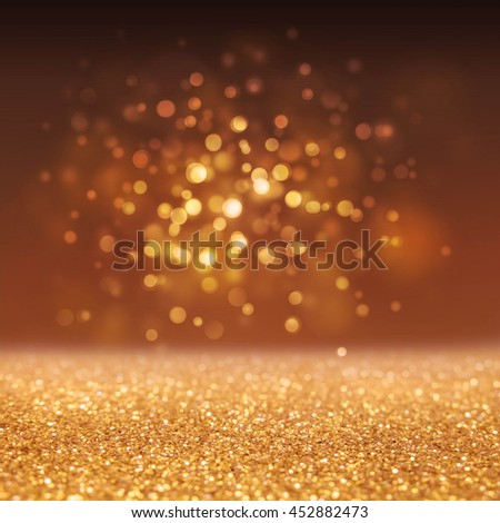 Abstract of Bright and sparkling bokeh background. golden and black bokeh -blurred lighting from glitter texture. Luxury design background. #452882473