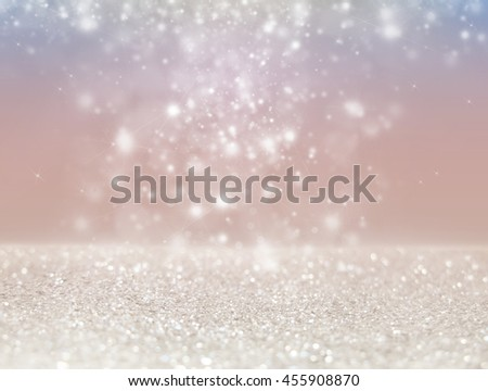 Abstract of Bright and sparkling bokeh background. silver bokeh -blurred lighting from glitter texture. Luxury design background. - Shutterstock ID 455908870