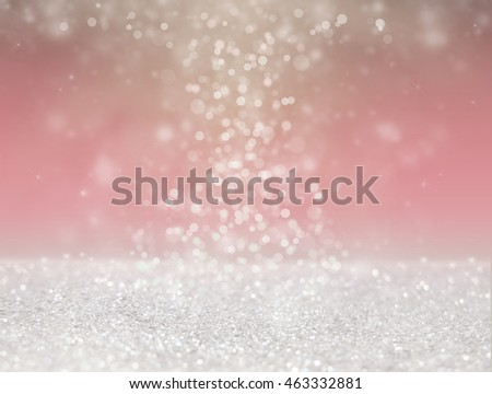 Abstract of Bright and sparkling, Silver bokeh -blurred lighting from glitter texture. Luxury design background. - Shutterstock ID 463332881