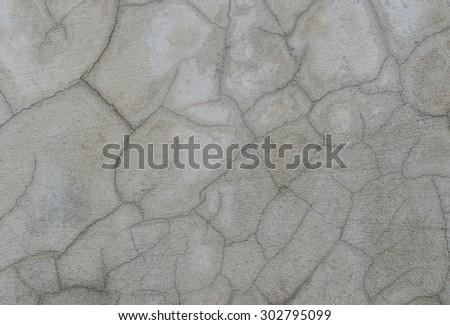 abstract of cement cracked...