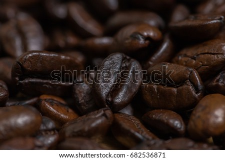 Abstract of coffee beans #682536871