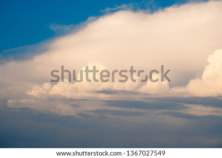 abstract of Cumulonimbus cloud in afternoon background for forecast and meteorology concept #1367027549