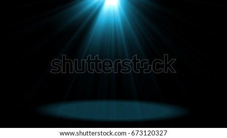 abstract of empty  stage  with colorful spotlights  or Several  bright projectors for scene lighting  effects . can be used for display or montage your products #673120327