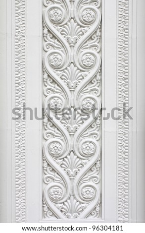 Abstract of Europe style sculpture on wall #96304181