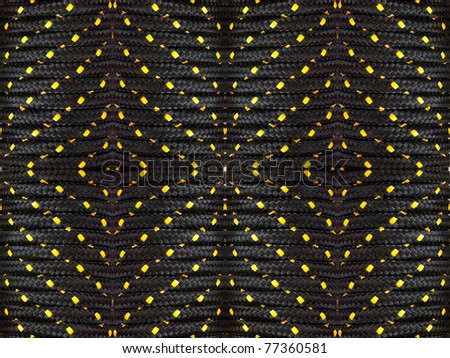 Abstract of hank of black rope background - stock photo