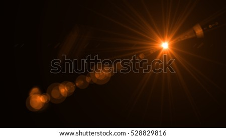 abstract of lighting  , digital lens flare in dark background #528829816