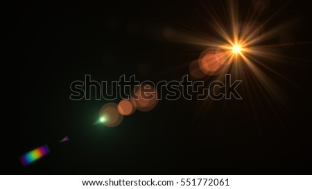 abstract of lighting digital lens flare in dark background #551772061