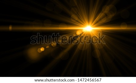 abstract of lighting for background. digital lens flare in dark background  Foto stock ©