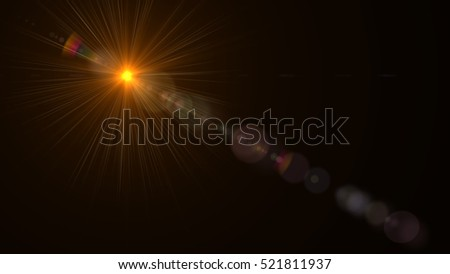 Abstract of lighting for background. digital lens flare in dark background #521811937