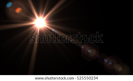 abstract of lighting for background. digital lens flare in dark background - Shutterstock ID 525550234