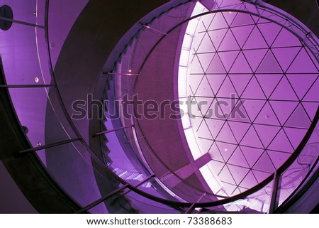 Abstract of modern architrecture based on shapes of Nature