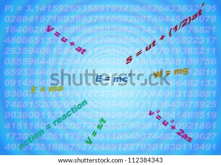 abstract of physical formulas for education background - stock photo
