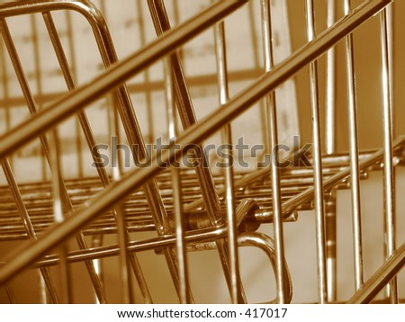 abstract of shopping cart