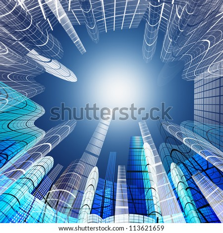 abstract of skyscraper ,architecture background