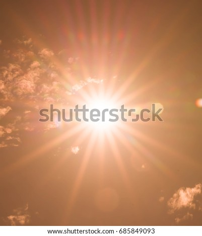 Abstract of sun with flare background, Beautiful rays of light.digital lens flare #685849093