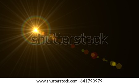 abstract of sun with flare. natural background with lights and sunshine wallpaper #641790979