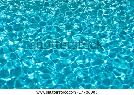 Abstract of swimming pool ripples on a sunny day