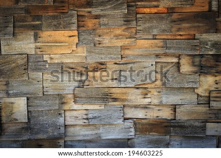 abstract of wood shingles background