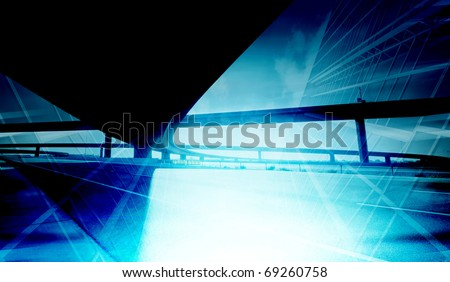 Abstract office building background