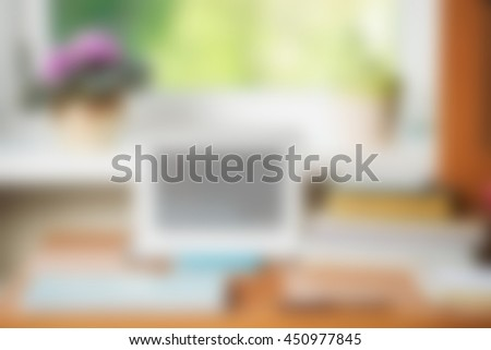 Prime Abstract Office Desk Table With Computer Supplies Flower Download Free Architecture Designs Embacsunscenecom