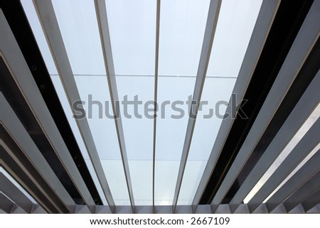 Abstract office window view - converging perspective