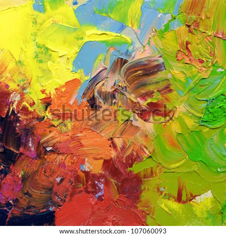 abstract oil paint textures - impasto surface - hand painted on canvas