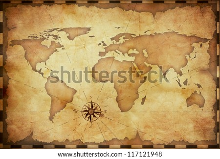 abstract old grunge world map