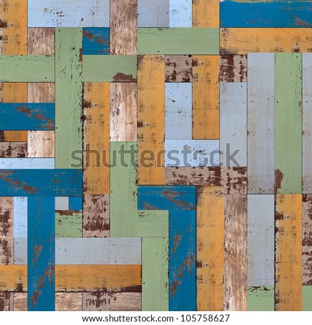 Abstract old painted wood wall background