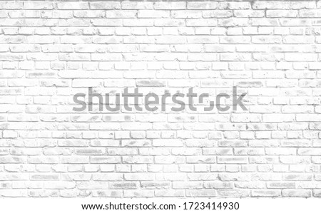 Abstract old white brick wall textured background