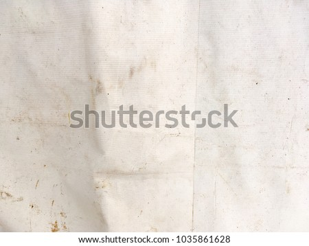 Abstract old white tent surface texture for background #1035861628
