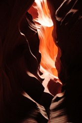 Abstract Orange and black background and texture 5 Antelope canyon in Page, Arizona, USA