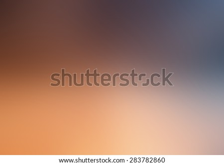 Abstract orange and blue blurry background for graphic design