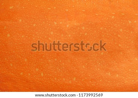 abstract orange background made of pumpkin skin