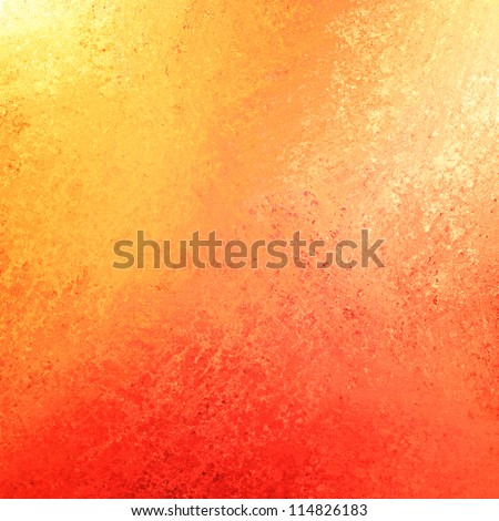 Abstract Orange Background Or Red Background With Bright Colorful Background With Vintage Grunge Background Texture Gradient Design Or Halloween Or Warm Autumn Background Invitation Or Web Template
