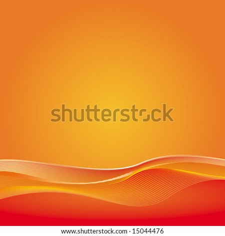 Abstract orange background, raster version. Simple and clear. Space left open for your text or artwork. (vector version ID: 13986526)