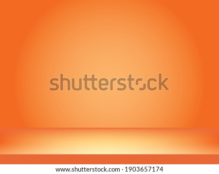 Abstract Orange background with orange table design,studio,room, web template ,Business report with orange background color.