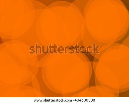 Abstract orange circles tan back drop background